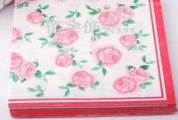 Elegant Multicolour table napkin paper printed facial tissue paper Printing Serviette( 10 small bags)