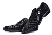 Top Fashion Casual Brand Men Leather Shoes Hot Sale Dress Comfortable Men Oxford size 41-46