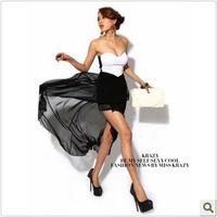 Hot Sexy Women Asymmetric  Clubwear Party Evening Strapless Maxi Dress