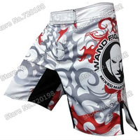 Mens MMA Boxing Shorts Fight Shorts Muay Thai Shorts MMA Boxing Trunks Pretorian Boxing Sanda Shorts Grey Free Shipping