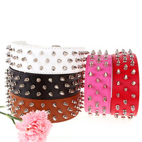 Free shipping 2013 Lefdy New buckles for dog collars spiked collar dog Leather Genuine