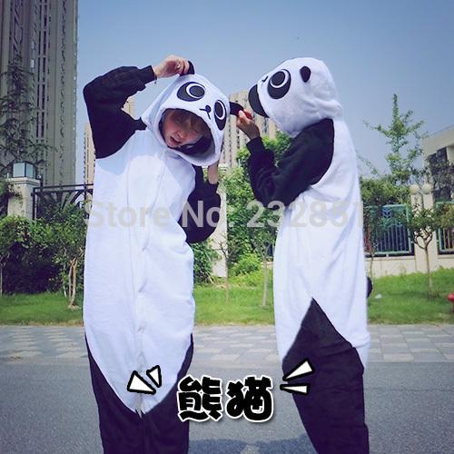 COSBUS fleece / Panda Panda pajamas animals Onesies Pyjamas jumpsuits COSPLAY Costume Sleepwear Sleepsuit for adult(China (Mainland))