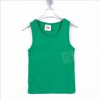 2013 summer candy color boys clothing girls clothing baby child tx-0932 tank