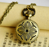 Small peacock flower pocket watch vintage accessories fashion pocket watch