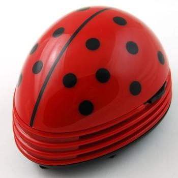AD-01 Mini Multi-functional Cleaner Ladybug Handheld Vacuum Cleaner for Desktop/Car/PC (Red)