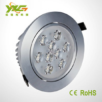 Factory new White Shell 9W  Dimmable Led Downlights Cool/Warm White Led Ceiling Down Lights Energy Saving Led Lamp 110V 230V