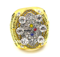 Free Shipping !size 10.25 size 11 replica 2008 Pittsburgh Steelers Super Bowl championship ring as gift