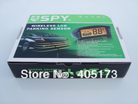 "Free shipping High quality Easy installation SPY LP208 4 black sensor 2.5"" LCD wireless parking sensor"