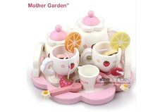 Hot sale mother garden tea set wooden child toy set children's birthday gift intelligence toy
