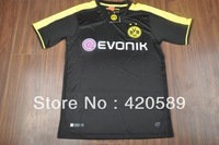 2013/14 Borussia Dortmund Away Black football jersey, Lewandowski Reus Gundogan Thailand Quality BVB soccer shirt uniforms