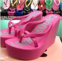 Cheap sale. Leuconostoc 2013 rivet flip flops wedges platform shoes women's shoes sandals