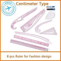 Fashion Designer Kit  Fashion plastic ruler sets 8 pcs Free shipping