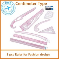 Fashion Designer Kit  Fashion plastic ruler sets 8 pcs Free shipping
