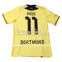2014 Top 3AAA+ thailand quality Dortmund jerseys #11 REUS,Free shipping New season Home Yellow Dortmund soccer jerseys