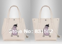 2013 NEW dual-use creative cartoon embossed canvas handbag fashion  portable shoulder bag shopping bag
