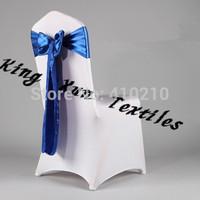 Royal Blue   Satin Chair Sash\Wedding Chair Sash\Chair Bow\Chair Tie  Free Shipping