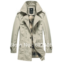2013 Hot Sale Men's Dust Coat The New Male British Style Men's Trench Coat Single Breasted Autumn Coat Wind Jacket M/L/XL/XXL