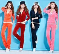 2013 New Design Autumn Winter Large Big Size Hoody+Pant Sport Suits Corduroy Jogging Suits For Women xl xxl xxxl xxxxl 8 colours