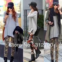 Freeshipping New2013 Women fashion clothing graffiti leggings camouflage leggings ankle length trousers pencil pants gift
