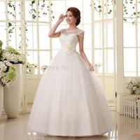 2014 New hot sale Wedding dress hy bandage lacing paillette princess wedding dress sweet