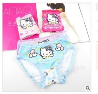 Free Shipping Hot Sale Kids Thong Underwear Little Girls Hello Kitty Sexy Briefs Children Cotton Cute Panties Underpants