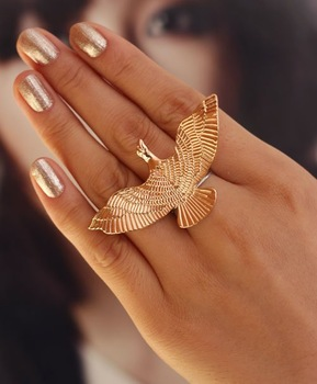 Wholesale Genuine Fashion Punk Style Retro Birds Flying Cocktail Ring 100%, Excellent Quality Free shipping