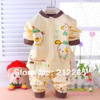 2014 New 100% Cotton Cartoon Pattern Baby Boy Girl Clothing Set Baby Pajamas Retail Drop Shipping