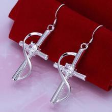 925 silver earrings 925 sterling silver fashion jewelry earrings beautiful earrings high quality Inlaid Cross Earrings
