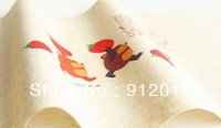 10PC 20*30cm Bear up strawberry  Hand Painting Dyeing Natural Cotton Linen Canvas Handmade DIY Patchwork Fabric Mix Order