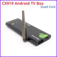 Free Shipping - CX919 Quad Core Android  4.2 TV Box / Mini PC RK3188 2GB DDR3+8GB Build in Bluetooth4.0 /WiFi 1080P