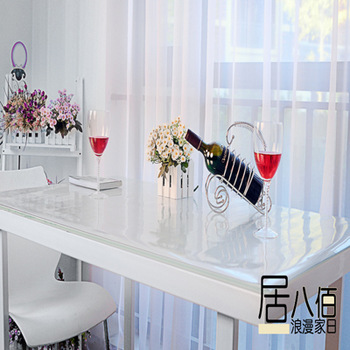 Soft glass table cloth transparent tablecloth table mat waterproof disposable dining table cloth 60cm crystal plate pvc