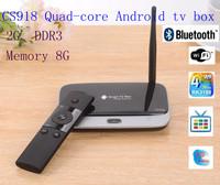 Quad Core RK3188 CS918 Android 4.2 TV Box ARM Cortex-A9 1.8Ghz AV Port+IR Remote Control mini pc Free shiping