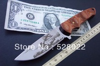 HK Free shipping High quality outdoor camping knife, hunting knife blade material 440 c