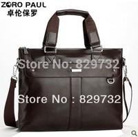 Free shipping 2014 male horizontal leather bag shoulder bag messenger bag handbag genuine leather laptop bag briefcase