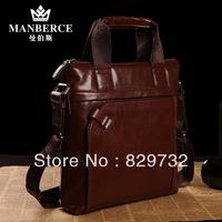 Free shipping Genuine leather men's bag first layer of cowhide male shoulder bag messenger bag handbag commercial