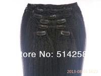 Cheap 5A Clip In Human Hair 85g/100g/115g/135g #1,#1B,#2,#4 Kinky Straight Malaysia Virgin Human Hair 7pcs/Set Clip On Extension