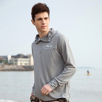 New 2014 outdoor sportswear brand casual dress men's clothing fishing clothes uvioresistant sun protection slim fit hoody