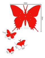 Hot New Fashion Butterfly Wall Clock Home Decor Art Design Modern Style