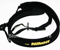 Free Shipping Luxury Neoprene Camera Neck Strap For Digital Cameras, Black