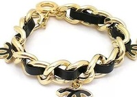 (Min order $10,can mix) 3 Colors Punk Metal Braid Bracelet Leather Bracelet Charm Bracelet Free Shipping 2059