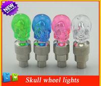 4pcs/lot car led daytime running light Skull Type car styling light with blue pink green white bulb for  car tire lighting