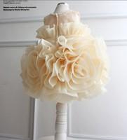 2013 baby children girls princess dress big flower wedding dresses TUTU birthday gift