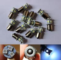 100pcs/lot 1156 1157 BA15S BAU15S BA15D BAY15D P21W 8 SMD 5050 Car LED Brake Turn Light Automobile Wedge Lamp light  ship
