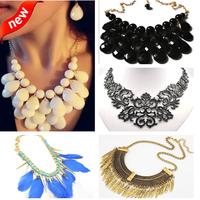 Hot Selling New Fashion Mixed Style Bib Choker Necklace U pick 5 style 001
