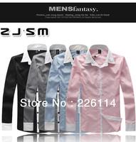 Free Shipping New Mens Shirts Casual Slim Fit Stylish Dress Shirts M,L,XL XXL