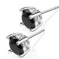 Kastm Brand 100% Real 925 Sterling Silver Platinum   black crystal women men  stud earrings fine jewelry promotion kse055