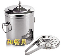 1.2L Stainless Steel Bouble Layer Ice Bucket Insulation Champagne Ice Bucket Wine Coolers Buckets with Lid ice Longs