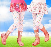 Free Shipping 2013 Nova Kids Girl Color Dots Ruffle Leggings Cotton Pants Trousers Girls Underwear 3-10Years