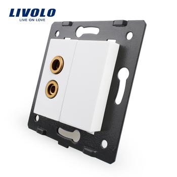 , Livolo White Plastic Materials, 45mm*22mm, EU Standard, Function Key For Sound ...