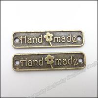 120pcs Vintage Charms Rectangle Pendant Antique bronze Zinc Alloy Fit Bracelet Necklace DIY Metal Jewelry Findings